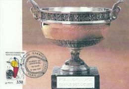 ILE DE FRANCE - 75 - PARIS - Tennis - Roland Garros - Tournoi Du Centenaire - Cartoline Maximum
