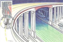 PAYS DE LA LOIRE - 44 - LOIRE ATLANTIQUE - NANTES - Pont De Cheviré - Cartoline Maximum