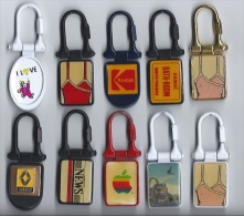 10 Portes Cléfs Themes Différents - Key-rings