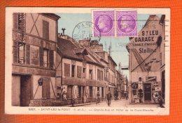 1 Cpa Saint-Leu-la-Forèt Grande-rue Et Hotel De La Croix-Blanche - Saint Leu La Foret