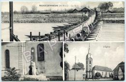 Bantzenheim (68) - Multi-Vues - Le Rhin - Monument Aux Morts - Église - Circulé En 1936 - Autres Communes
