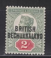 BECHUANALAND  1891  QV 2 D   MH - Bechuanaland (...-1966)