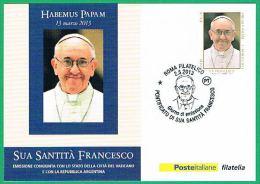 S.S . Papa Francesco - Annullo Giorno Emissione - Papi