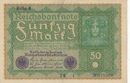 BILLETS  -ALLEMAGNE - 50 MARK  REICH  I K 1 N°78509 - [ 2] 1871-1918 : Empire Allemand