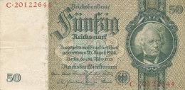 BILLETS  -ALLEMAGNE - 50 MARK  REICH  C 20122644 - [ 2] 1871-1918 : German Empire