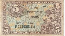 BILLETS  -ALLEMAGNE - 5  DEUTSCHE MARK  TYPE 1948 - 5 Mark