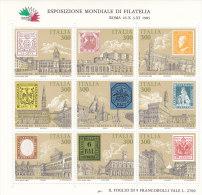 Italia Rep.  1985  Foglietto N. 2** (Sassone) Esp.Mondiale Di Filatelia - Blocks & Sheetlets