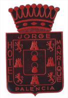 Hotel Jorge/Manrique/Espagne/ Vers 1945-1955     EVM3 - Etiquettes D'hotels