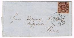 Dänemark 1853, Michel #  1 IIa O - 1851-63 (Frederik VII)