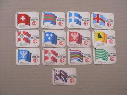 Lot De 13  SOUS BOCKS Differents De Biere GUEUZE Les Drapeaux - Portavasos