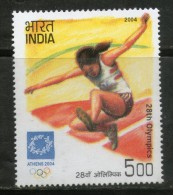 India 2004 Olympics Athens Women Athletics Emblem 1v MNH # 2346 - Summer 2004: Athens