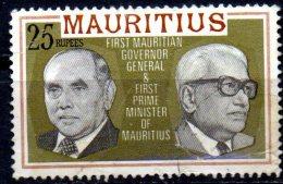 MAURITIUS 1978 First Governor General & Prime Minister - 25r Multicoloured FU - Mauritius (1968-...)