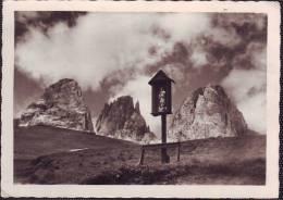 Artistico Tabernacolo Con Madonna E Bambino In Val Gardena (Bromofoto ) - Monumenti