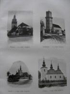 Tolcsva -Olaszliszka-Bacskó -Bačkov-Lomna- Lomné -Zemplín-ZEMPLÉN Hungary-Slovakia Ca 1900  Print -1.ZEMP.71 - Estampes & Gravures