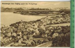 Starnberger See: Tutzing Gegen Das Hochgebirge  Verlag: Lorenz Fränzl, München, Postkarte Mit Frankatur, Mit Stempel, - Tutzing