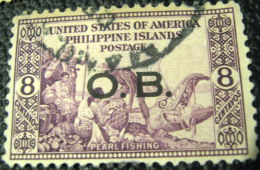 Philippines 1935 Pearl Fishing Official 8c - Used - Philippines