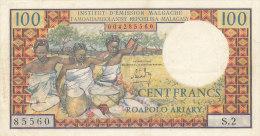 BILLETS  -MADAGASCAR  -  100 FRANCS  INSTITUT D'EMISSION MALGACHE - Madagascar