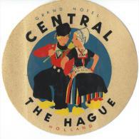 Grand Hotel Central/THE HAGUE/ Hollande/ Vers 1945-1955     EVM14 - Etiquettes D'hotels