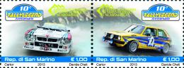 San Marino 2013 - Voitures De Rallye, Vw Golf, Lancia Delta, 10e Ann Du Rallye De Legende - 2val Neuf // Mnh - San Marino