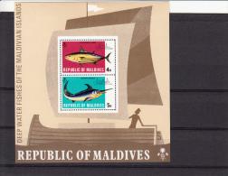 Malediven BF16  Vissen/fishes/poissons Set MNH - Maldives (1965-...)