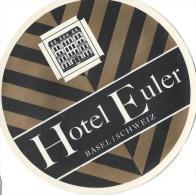 Hotel Euler/Basel//Suisse/Vers 1945-55       EVM20 - Etiquettes D'hotels