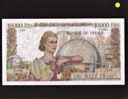 """** Date**10 000 Francs  """"GENIE FRANCAIS""""    2   11   1951 TTB Fay.50.54 - 1871-1952 Anciens Francs Circulés Au XXème"""
