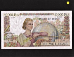 "** Date**10 000 Francs  ""GENIE FRANCAIS""    2   11   1951 TTB/SUP Fay.50.54 - 1871-1952 Gedurende De XXste In Omloop"