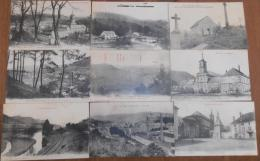 12gc     88 Moyenmoutier Lot De 9 Cpa écrites En 1915 Par Le Meme Soldat - France