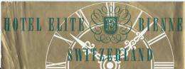 Hotel Elite Bienne /SUISSEl/ Vers 1945-55       EVM22