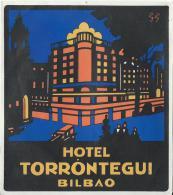 Hotel Torrontegui/BILBAO/Espagne/ Vers 1945-55       EVM23 - Etiquettes D'hotels