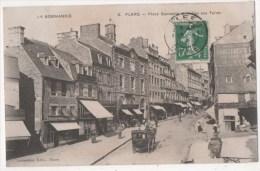 FLERS - Place Gambetta Et Halles Aux Toiles - Flers