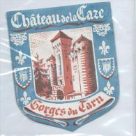 CHATEAU DE LA Caze/Gorges Du Tarn /France/ Vers 1945-55       EVM27 - Hotel Labels