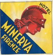Hotel Minerva/FIRENZE/Italie /Vers 1945-1955       EVM33 - Etiquettes D'hotels