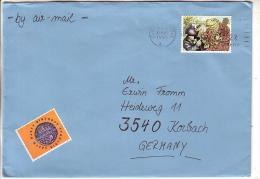GOOD GB Postal Cover To GERMANY 1993 - Good Stamped: Frog & Mole - 1952-.... (Elizabeth II)