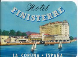 Hotel Finisterre/LA CORUNA/Espagne /Vers 1945-1955       EVM34 - Etiquettes D'hotels