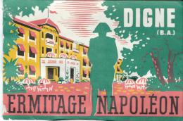 Ermitage Napoléon/DIGNE/Basses Alpes/France /Vers 1945-1955       EVM36 - Etiquettes D'hotels