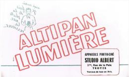 BUVARD : ALTIPAN LUMIERE - APPAREILS PHOTO-CINE STUDIO ALBERT à TROYES (Aube) - Cinéma & Theatre