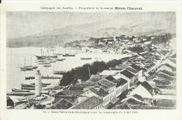 Martinique. St Pierre Avant L´éruption. Publicité Rhum Chauvet. Compagnie Des Antilles - Antillas