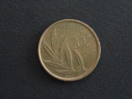 1982 - 20 Francs Baudouin Belgique - 07. 20 Francs