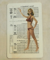 LOTO  (HUNGARY) Betting, Gambling 1976 / Lottery Ticket And A Girl In A Bikini - Pin Up - Calendarios