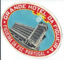 Grande Hotel Da Figueira/FIGUEIRA Da FOZ/ Portugal// Vers 1945-1955       EVM55 - Etiquettes D'hotels