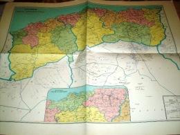 Carte Géographique- Algerie -Limites Administratives-1961 - Cartes Géographiques