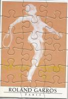 Roland Garros Paris 1990 / Silhouette Femme Qui Joue Au Tennis / Dessin De Garache / Puzzle, Affiche Sport - Puzzles