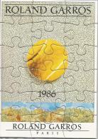 Roland Garros Paris 1986 / Petit Puzzle, Affiche, Sport, Tennis / Dessin De Kolar - Puzzles