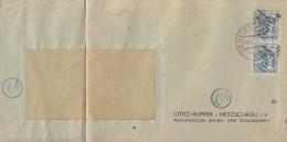 SBZ Brief Mef Minr.2x 170 Netschkau 29.6.48 Altprüfung - Sowjetische Zone (SBZ)
