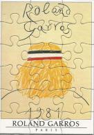 Roland Garros Paris 1981 / Affiche, Sport, Tennis / Petit Puzzle / Dessin De Arroyo - Puzzles