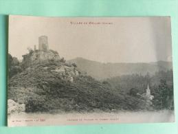 Vallée De CELLES , Chateau Et  Village De Pierre Percée - France