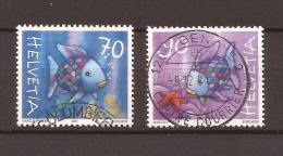 """2001 ZNr 1027-1028 Série Complète """"poissons Arc-en-ciel"""" - Schweiz"""