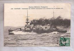 CPA - Marine Militaire Française - PATRIE - Cuirassé De 14870 Tonneaux à La Vitesse De 19 Noeuds 125 - Guerra