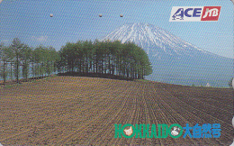 Télécarte  Japon - JTB - Volcan MONT FUJI - Vulcan Mountain Japan Phonecard - Vulkan Berg Telefonkarte - 679 - Montagnes